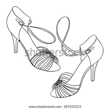 Dancing Shoes Drawing Dancing Shoes 187033253