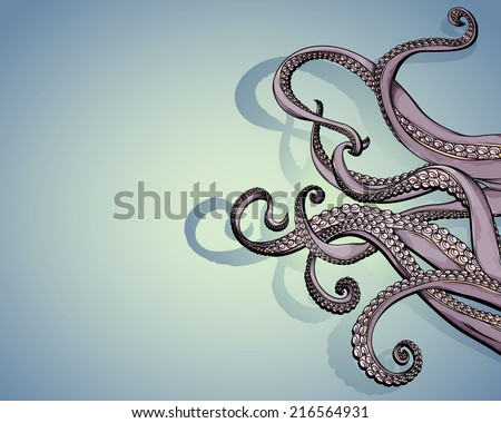 vector drawing of tentacles