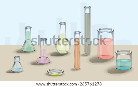 vector drawing of various   lab