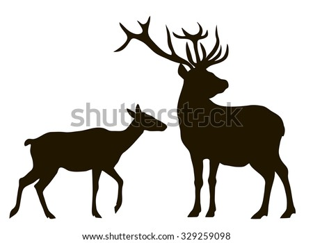 stock-vector-vector-drawing-silhouettes-couples-deer