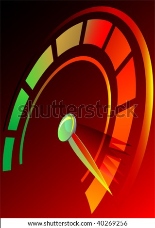 Vector drawing speedometer panel of the car. Symbol rate