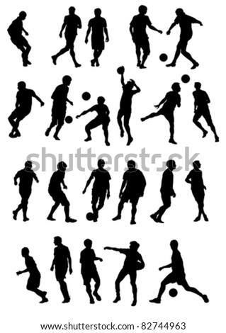 Vector drawing sports football team