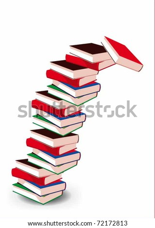 vector drawing stacks of books