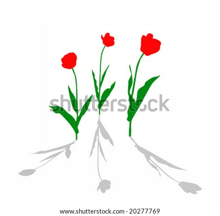 scarlet red tulip. Hummingbird with red flowers tattoo design on blade. tattoo. trendy. tulip. vector