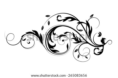 stock-vector-vector-drawing-with-calligraphic-design-elements-abstract-flourishes-pattern
