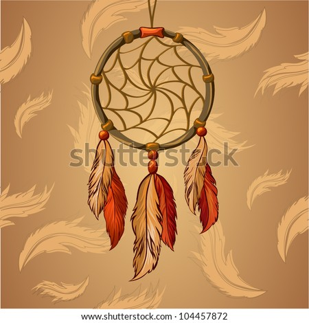 Vector Dream Catcher - stock vector