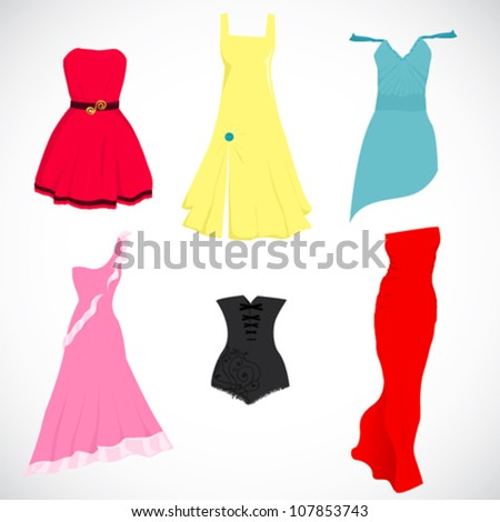 vector dresses  elegant
