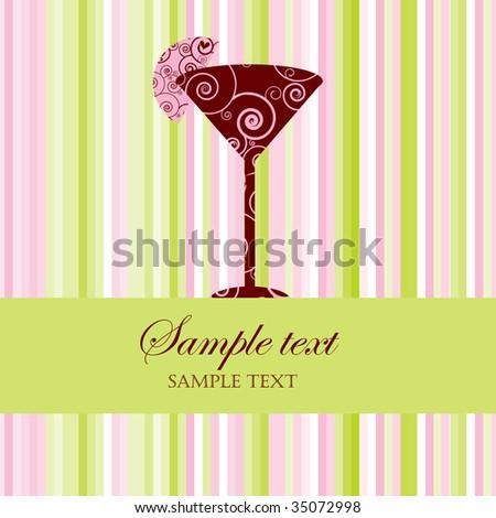 Vector Drink Menu or Party Invitation