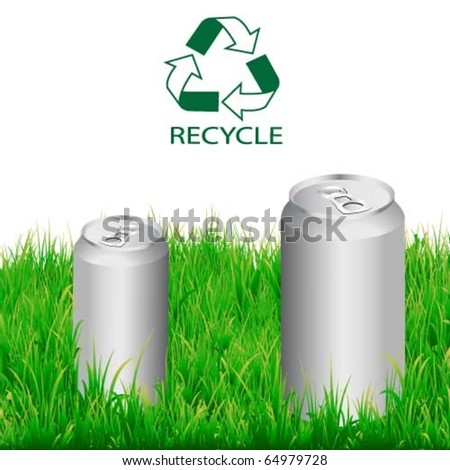 Vector drinking aluminium,recycle can