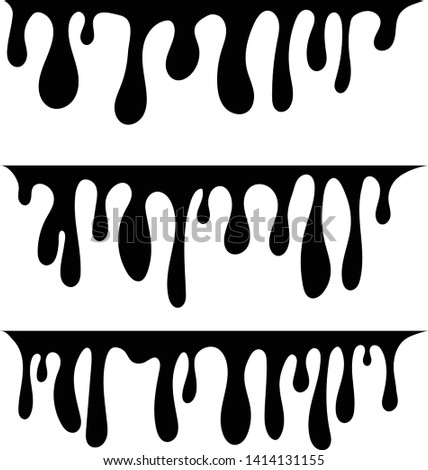 Vector dripping paint. Paint drips background. Paint dripping. abstract blob. Background Set