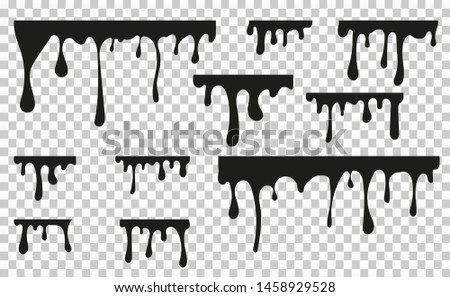 Vector dripping paint.Paint drips background.Paint dripping. abstract blob.Background.Set.
