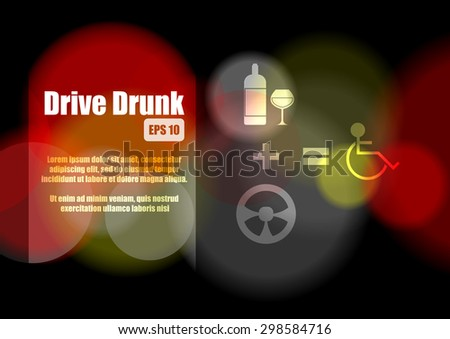 vector   drive drink concept