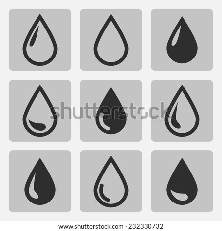 vector drop  black icons on a