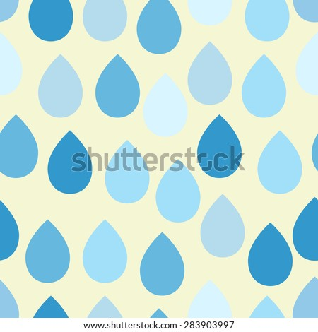 Vector drop seamless pattern.