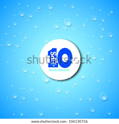 Vector drops on blue background. Eps 10 - stock vector