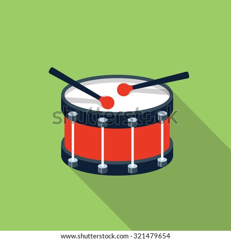 vector drum icon