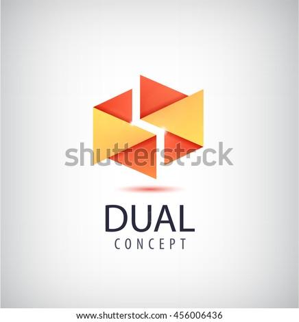 vector dual concept logo