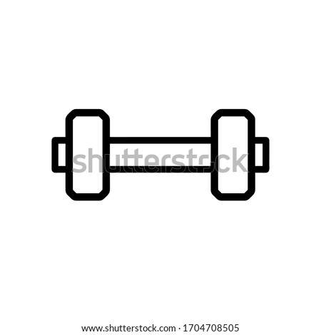 vector dumbbell icon. Eps. 10.