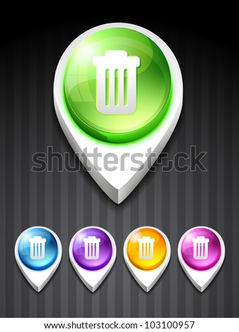 vector dustbin icon design art