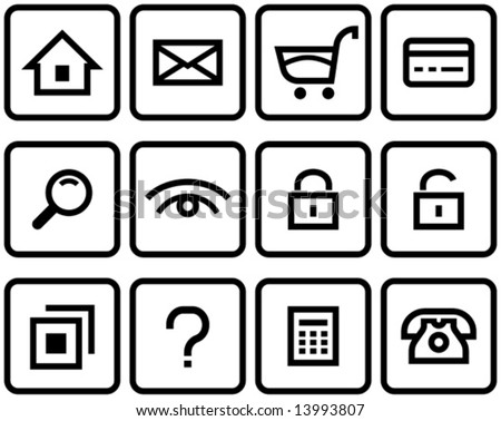 Vector E-Commerce Icon Set  You'll find more icons like this in my portfolio