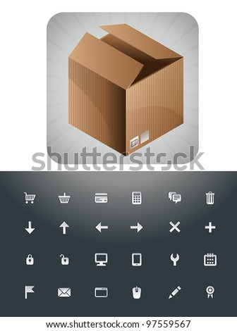 vector e-commerce signs sets - shopping concept