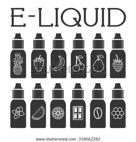 vector e liquid illustration of