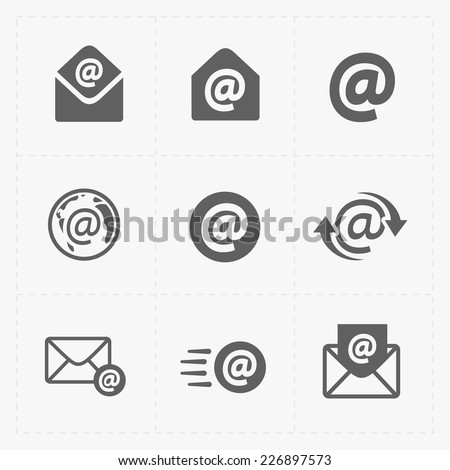 Vector E-mail icons on White Background.