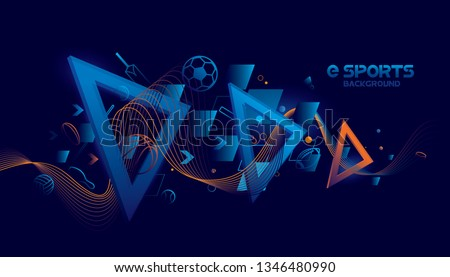 Vector e sports with futuristic technology background design.