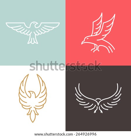 vector eagle and falcon linear
