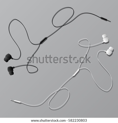 vector earphones with connector