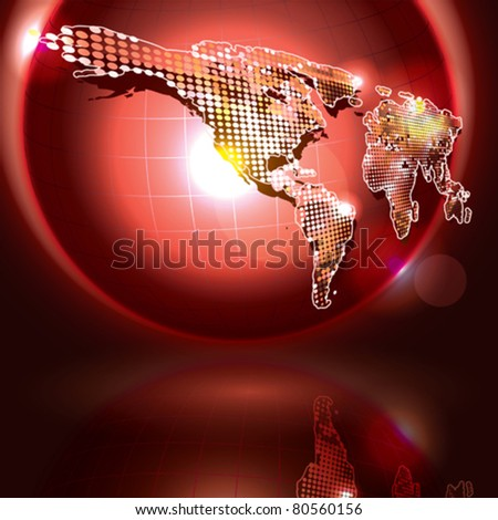 Vector Earth - stock vector