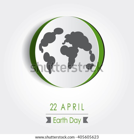 Vector Earth Day Poster Design. Save Earth Concept. Map