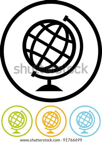 Vector Earth globe icon