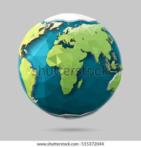 vector earth globe illustration