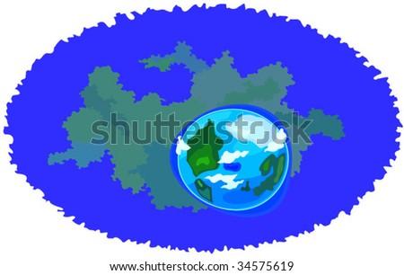 vector earth part of cosmic set