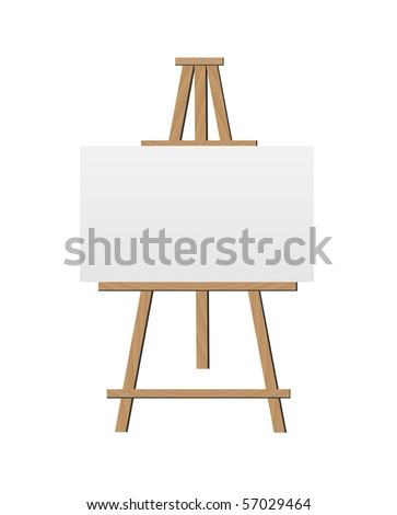Vector Easel Illustration