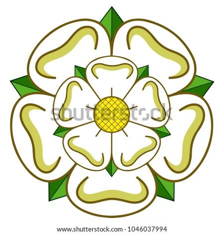 Vector East riding of Yorkshire heraldic rose Stock fotó ©