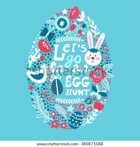 vector easter background with
