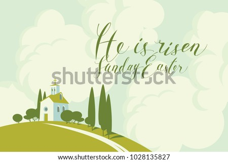 vector easter banner or card