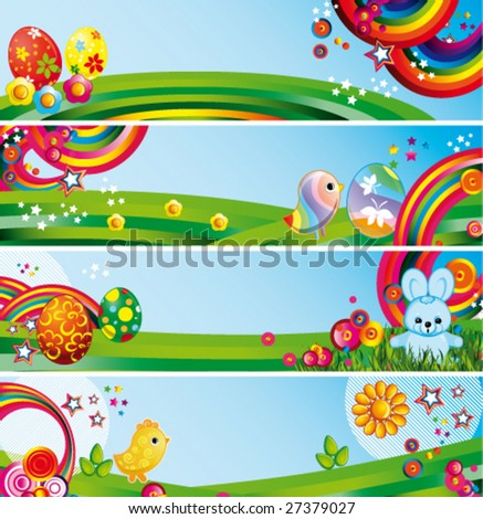 Vector Easter banners