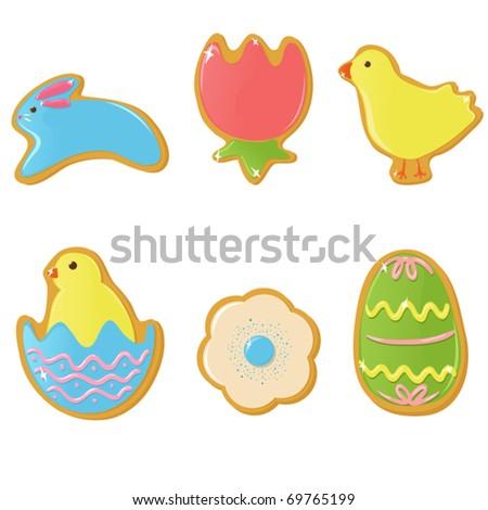Vector Easter cookies
