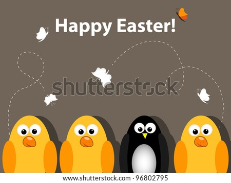 Vector Easter greeting card
