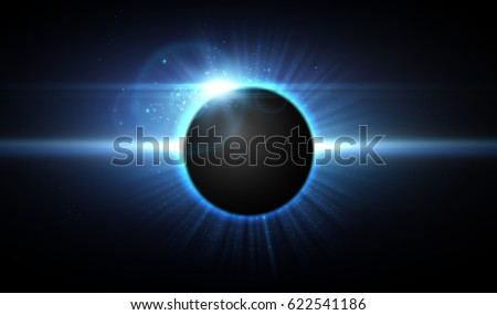 vector eclipse in space  cosmic