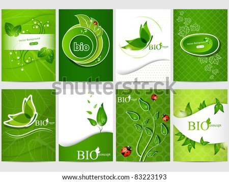 Vector eco design background set