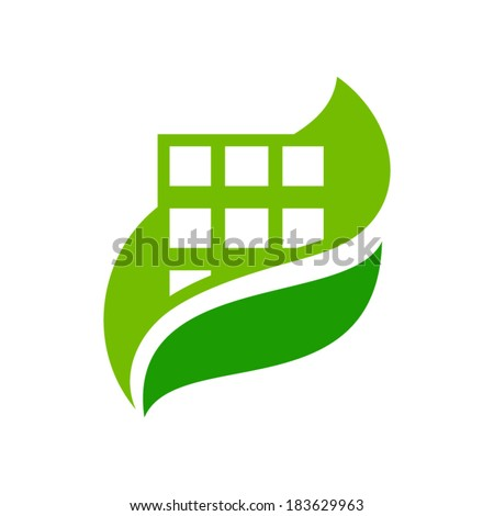 Vector eco house sign branding corporate logo isolated on white background