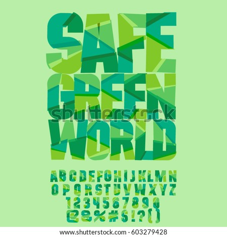 stock-vector-vector-eco-logo-safe-green-world-vector-set-of-colorful-letters-numbers-and-symbols