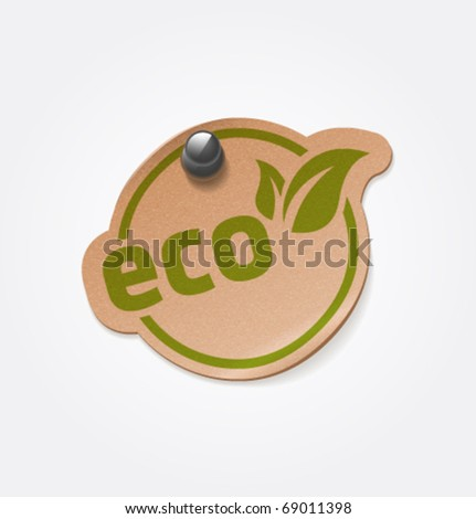 Vector eco sticker. - stock vector
