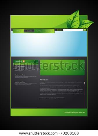 vector eco web layout design - stock vector