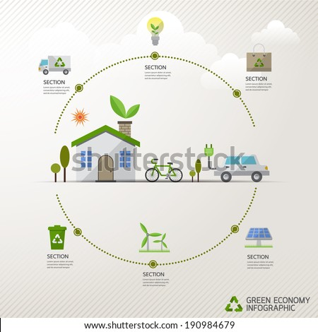 Vector ecology concept  infographic modern design. icon and sign.