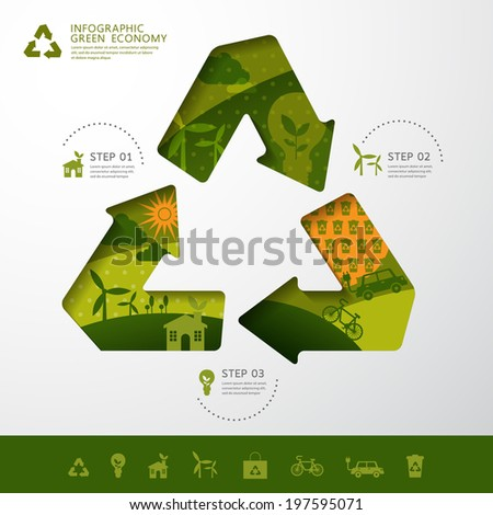 vector ecology concept recycle